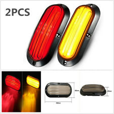 2X 74 LED Car Turn Singnal Truck Tail Lamp Rear Brake Light Indicator Red&Yellow
