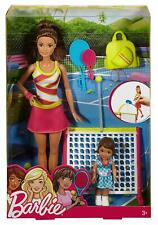Barbie Careers Tennis Coach Playset With Barbie & Student Tennis Rackets New