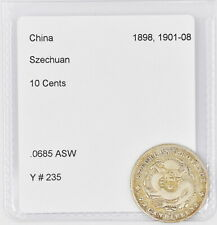 China Szechuan Silver 10 Cents (Y #235)