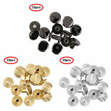 10 Pcs Flat Chicago Metal Screw Studs Nail Rivets Tacks Button for Leather Craft