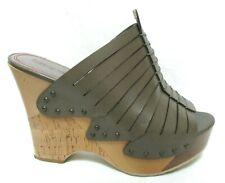 Luxury Rebel wood cork platform olive sandals Size Sz 8 M