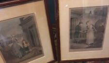 RARE Antique Engraving Wheatley Cries of London PLATE 2 & 4 Framed.