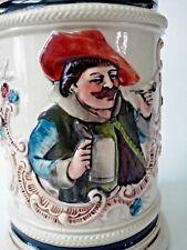 Reinhold Hanke Beer Stein 265 Pottery stoneware Relief 0.5 L Pewter lid