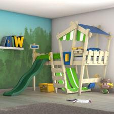 WICKEY Kinderbett Hochbett Spielbett mit Dach CrAzY Hutty Etagenbett mit Rutsche