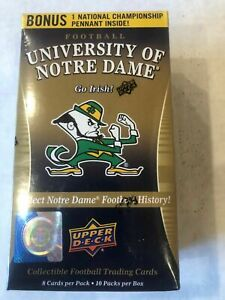 2013 Upper Deck Notre Dame Factory Sealed Blaster Box - Pennant - Possible Auto