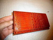 Ancien Luxueux Porte Monnaie ou P Feuille Vintage Cuir Crocodile à Sac de Femme