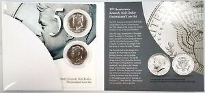 2014 Kennedy Half Dollar P & D 50th Anniversary 2 piece Uncirculated Coin Set!