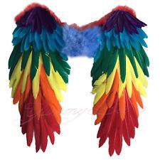Wings Fancy Dress Rainbow Pride Large Halloween Parrot Feather Angel Bird Adult