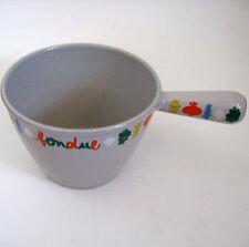 Vintage French 70's Le Creuset Fondue Pot France Cast Iron Enamel
