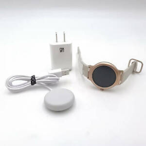 LG Rose Gold Smartwatch Genuine Leather Band Parts Or Repair Only LG-W270