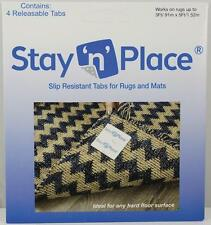 "Stay 'n' Place 4 pack Skid-Resistant Non Slip 3"" x 3"" Tabs Rug Gripper Mat Tape"