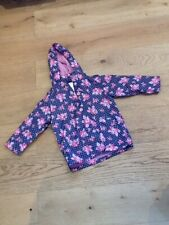 Girls Floral Fleece Lined Coat 2-3 Years