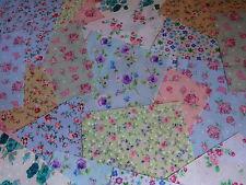 "100 x 4"" Fabric Remnant Bundle patchwork squares~Floral Collection~Craft"