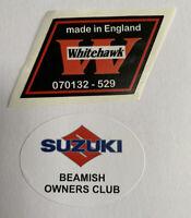 Suzuki Beamish. Black Engine Model. Head Stock Decal. 1978-1981.