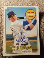 2018 Topps Heritage Willson Contreras High Number Real One Auto Chicago Cubs