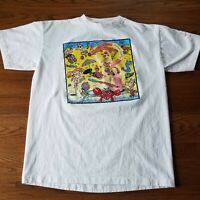 Vintage 90s 7Up Uncola Island T Shirt Short Sleeve Single Stitch Tee White Sz L