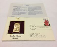 Garden Flowers Gladiola Stamp, April 28, 1994 FDC and 22kt gold replica