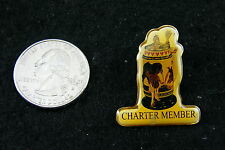 STEIN WITH BUDWEISER HORSES AND COLT CHARTER MEMBER PIN # 11