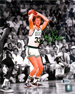 LARRY BIRD AUTHENTIC AUTOGRAPHED SIGNED 8X10 PHOTO BOSTON CELTICS BECKETT 119619