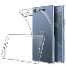 Clear Slim Gel Case & Glass Screen Protector for Sony Xperia XZ1 Compact