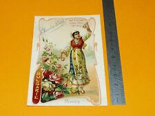 CHROMO 1900-1910 CHOCOLAT LOUIT BULGARIE FLEURS ROSES