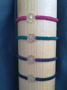 Makramee Armband, Blume des Lebens, mehrfarbig, unisex, neu