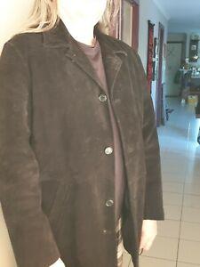 Mens Black Suede leather jacket XXL