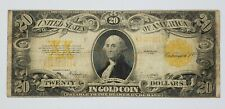 US 1922 $20 Gold Certificate Note