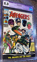 Avengers #60 CGC 8.0  Off-White To White Pages Marvel Comics Color Touch Only!