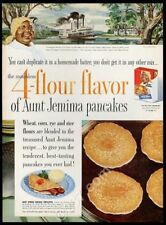 1954 Aunt Jemima pancake mix Colonel Highbee plantation riverboat art ad