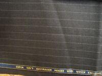 "4.33 yd English WOOL Australian Merino Super 120s FABRIC 9 oz SUITING 156"" BTP"