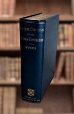 Textual Criticism of the Divina Commedia Edward Moore 1889 Cambridge Press Book
