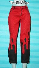 MONSTER HIGH GHOULIA YELPS FASHION PACK OUTFIT REPLACEMENT RED & BLACK PANTS