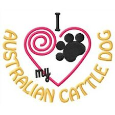 "I ""Heart"" My Australian Cattle Dog Short-Sleeved T-Shirt 1282-2 Sizes S - Xxl"