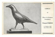 SCULPTEUR François POMPON carte publicitaire sculpture Corbeau