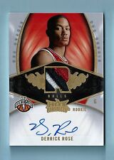 DERRICK ROSE 2008/09 NBA HOT PROSPECTS RC 3 COLOR PATCH AUTOGRAPH AUTO /199