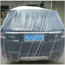 Disposable car cover Clear Plastic Temporary Rain Dust Snow Garage L For Car SUV