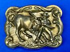 Different  Western Rodeo Cowboy roping fighting longhorn  belt buckle
