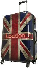 Koffer Bowatex Reise Trolley Hartschalen London Union Jack 77 cm XL Groß