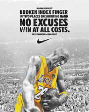 Kobe Bryant Nike Mamba Mentality Poster/Print > Black Mamba > 2K > Lakers 🔥🏀🔥