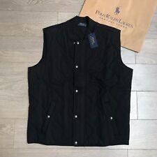 Ralph Lauren Quilted Bodywarmer Size L RRP €299 BLACK Vest 100% Genuine BNWT