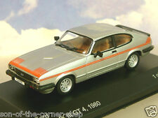 WHITEBOX MODELS DIECAST 1/43 1980 FORD CAPRI MK3 MKIII GT4 GT 4 SILVER/RED WB163