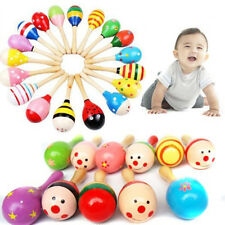 Cute Baby Kids Sound Music Gift Toddler Rattle Musical Wooden Colorful Toys New