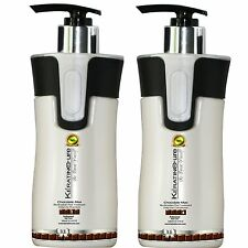 Keratin Cure Chocolate Sulfate Free Argan Aloe Shampoo Conditioner 300ml 10 oz
