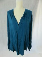 Velvet by Graham & Spencer Blue Tunic Top Size L