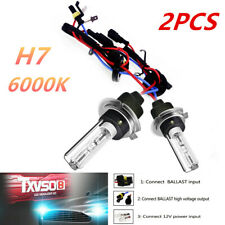 2PCS 6000K Xenon HID KIT's H7 Auto Car Truck Headlights Light Bulbs 55W Front