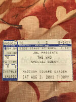 THE WHO 2002 CONCERT TOUR TICKET STUB NEW YORK MADISON SQUARE GARDEN 8.3.02 NYC