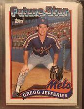 1989 Topps Gregg Jefferies New York Mets 233 Rookie RC Future Star