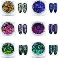 Chamäleon Nagel Glitzer Pulver Maniküre Nail Art Paillette Sequins Dekoration
