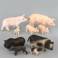 Simulation Animal Pig Model Toy Figurine Decor Plastic Animal Model Kids Gift